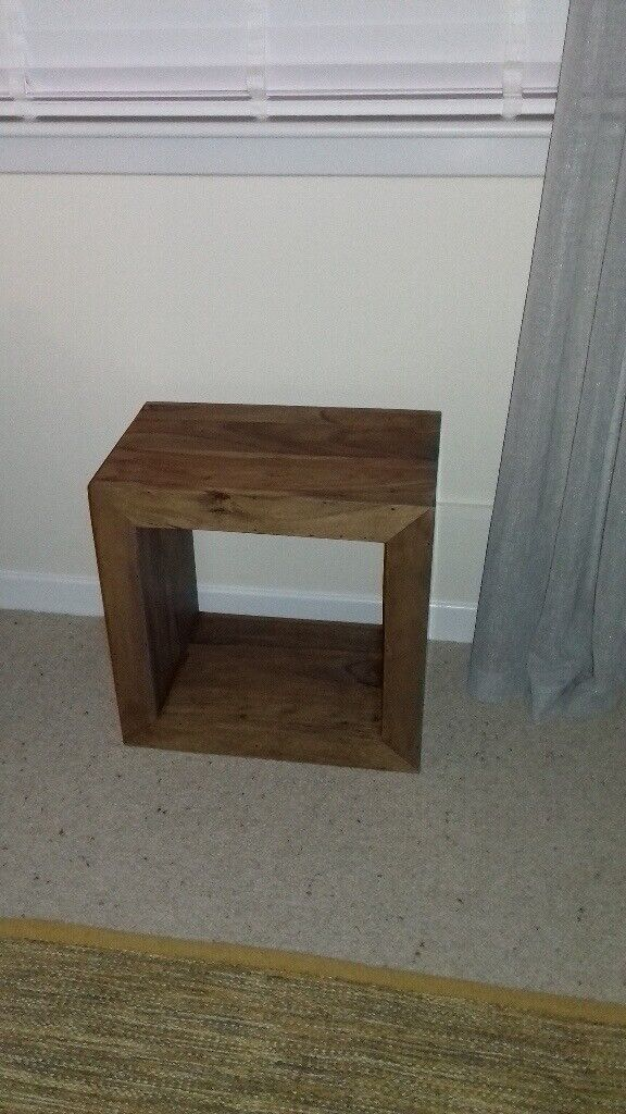 Solid Mango Wood Cube Side Table In Clydebank West Dunbartonshire Gumtree