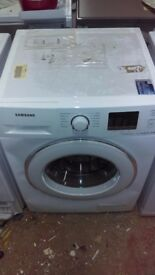 SAMSUNG 8kg white WASHING MACHINE new ex display which may have minor marks or blemishes.