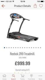 Reebok ZR9 Treadmill **REDUCED** 10.20.2017