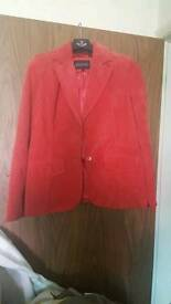 Womens Red 100% Real Leather Jacket