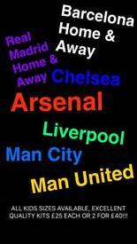 Premiership Football Kits