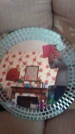 Blue mosaic bathroom mirror for sale