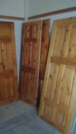 Five pine doors for sale