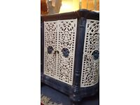 Antique Enamelled Cast Iron Heater Surround (possibly French)