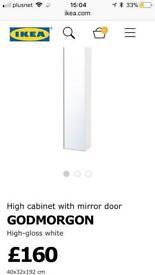 Ikea GODMORGON door cabinet door / mirror white