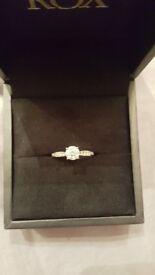 Platinum Diamond Engagement Ring (free resizing)