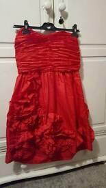 Ladies River Island red dress