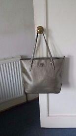 New Nine West Gold/Pewter Tote Bag