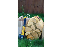 10 nets Kiln dried hardwood logs - FREE DELIVERY within Bristol area