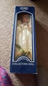 Porcelain collectors doll