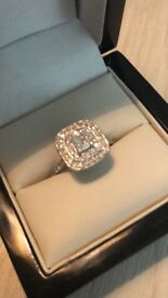 diamond engagement ring set in white gold