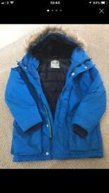 Next boys blue winter jacket age 7