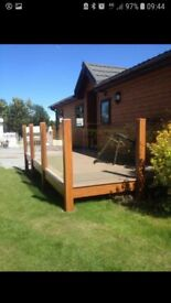 Traditional timber lodge great corner plot large garden ch /dg decking with glass 11 month site