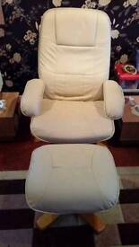2 x single swivel recliner. Chairs with 2 footstalls