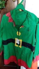 Christmas elf raincoat