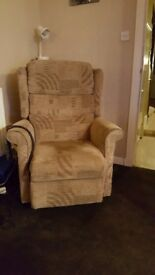 Tilt and recline chair - beige colour. Fully working