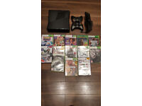 Xbox 360 S Console With Kinect And Games bundle with 2x Controlers