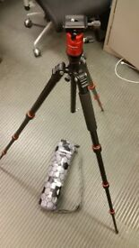 Fotopro X4CM Tripod Carbon Magnesium - great for travelling, holds 5kg!