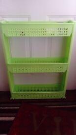 *Green Shelf 3 Tier Rolling Castor Dolly Trolley Storage*