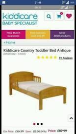 Wooden Cot Bed 140x70 Cm No Mattress
