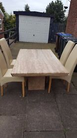 DESIGNER MARBLE DINING TABLE WITH CHAIRS