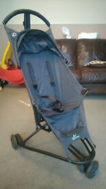 Quinny Yezz (Grey Road) with Quinny raincover and Quinny travel bag