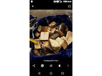 Tonne bag of kiln dried logs, chopped to size ready for burner, ash beech london plane, bag not inc