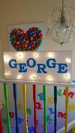 Large Personalised light up sign