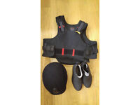 Horse Riding Body Protector, Helmet and Boots for Children