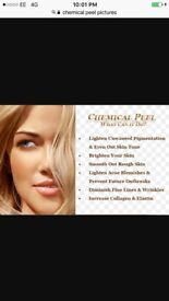 Dermaplaning and chemical peel facials, £35 each or together £60, best results when combined