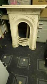 2x Victorian Cast Iron Fire Surrounds