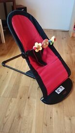 Baby BOUNCER BabyBjorn Balance Bouncer Sitter Chair with Wooden Toy Bar