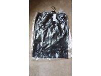 F & F LEATHER LOOK SKIRT