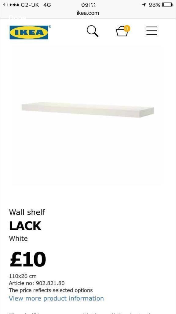 IKEA LACK SHELVES GOOD CONDITION WHITE