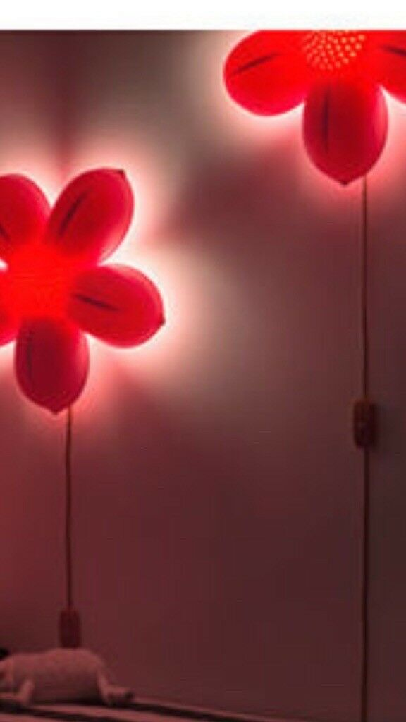 2 Ikea flower lights