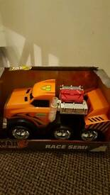 Race semi truck