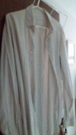 Prada 15 3/4 white shirt