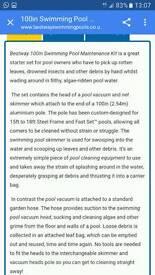 Bestway pool skimmer cleaner
