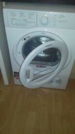 white 8kg hotpoint new condenser dryer 2 weeks old sellung as bought washer/dryer