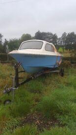 Shetland 460 sealark evinrude boat sea trailer outboard fadt