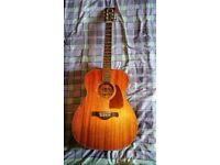 Ibanez Artwood AC240-OPN Mahogany Solid Top Guitar with Electrics
