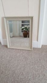 Mirror finished in Annie Sloan chalk paint 'Country Grey' 53 x 64cm