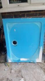 Brand new 1000 x 800 slim shower tray plastic film still on!