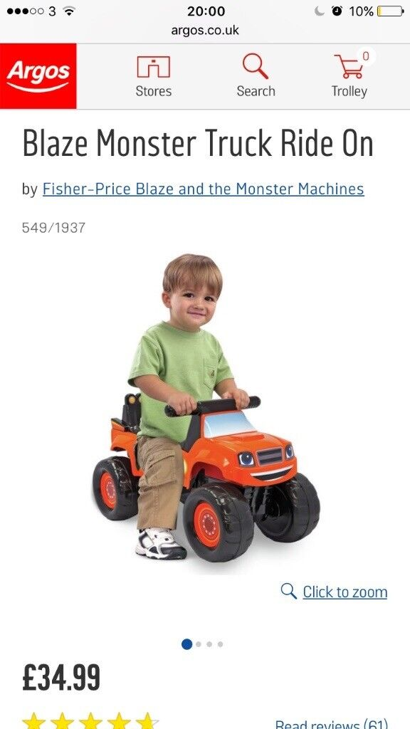 Ride on blaze and the monster machines