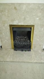 Gas Fire with Marble Surround and Marble Hearth