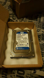 1TB Western Digital Blue 7200RPM SATA Hard Drive - WD10EZEX