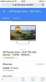 Hp 22 xw full hd ips monitor