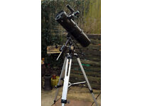 Skywatcher Explorer 130p Reflecting telescope with Eq2 mount and field tripod