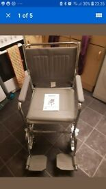 Commode wheel chair (new)