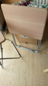 Four occupational folding tables